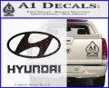 Hyundai Decal Sticker Full Carbon FIber Black Vinyl 120x97