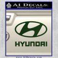 Hyundai Decal Sticker Full Dark Green Vinyl 120x120