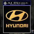 Hyundai Decal Sticker Full Gold Vinyl 120x120