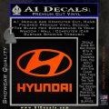 Hyundai Decal Sticker Full Orange Emblem 120x120