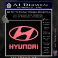 Hyundai Decal Sticker Full Pink Emblem 120x120