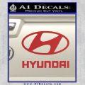 Hyundai Decal Sticker Full Red 120x120