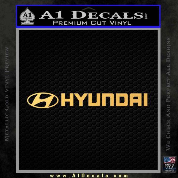 Hyundai Decal Sticker Wide Gold Vinyl