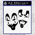 ICP Insane Clown Posse Faces Decal Black Vinyl 120x120