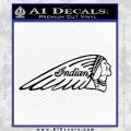 Indian Motorcycles D2 Decal Sticker Black Vinyl 120x120