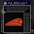 Indian Motorcycles D3 Decal Sticker Orange Emblem 120x120