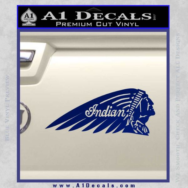 Indian Motorcycles Decal Sticker Headdress  A Decals - Vinyl for motorcycles