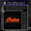 Indian Motorcycles Decal Sticker Wide Orange Emblem 120x120