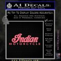 Indian Motorcycles Decal Sticker Wide Pink Emblem 120x120