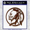 Indian Warrior Decal Sticker BROWN Vinyl 120x120