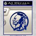 Indian Warrior Decal Sticker Blue Vinyl 120x120