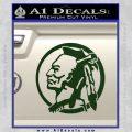 Indian Warrior Decal Sticker Dark Green Vinyl 120x120
