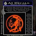 Indian Warrior Decal Sticker Orange Emblem 120x120