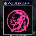 Indian Warrior Decal Sticker Pink Hot Vinyl 120x120