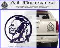 Indian Warrior Decal Sticker PurpleEmblem Logo 120x97