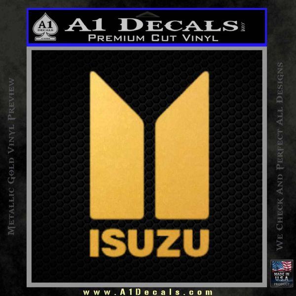 Isuzu Stacked D2 Decal Sticker Gold Vinyl