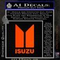 Isuzu Stacked D2 Decal Sticker Orange Emblem 120x120