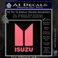 Isuzu Stacked D2 Decal Sticker Pink Emblem 120x120