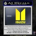 Isuzu Stacked D2 Decal Sticker Yellow Laptop 120x120
