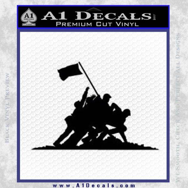 Iwo Jima Decal Sticker WWII Black Vinyl