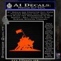 Iwo Jima Decal Sticker WWII Orange Emblem 120x120