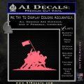 Iwo Jima Decal Sticker WWII Pink Emblem 120x120