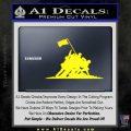 Iwo Jima Decal Sticker WWII Yellow Laptop 120x120