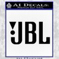 JBL Decal Sticker Black Vinyl 120x120