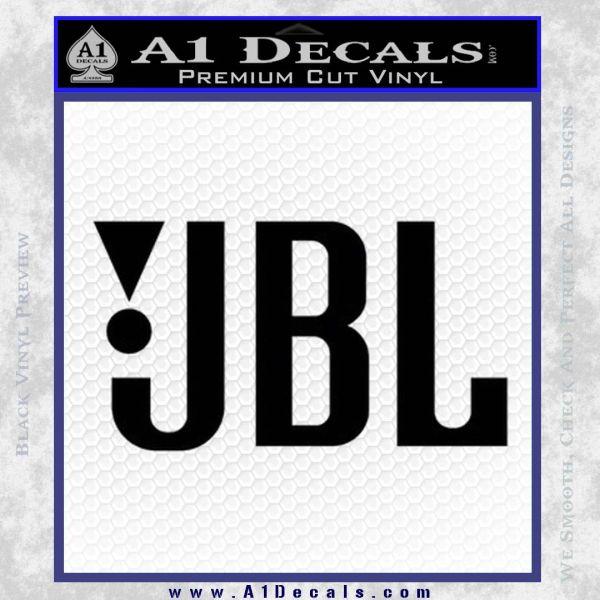 Jbl decal sticker black vinyl