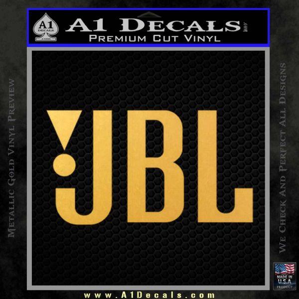 Logo 120x97 jbl decal sticker gold vinyl 120x120