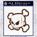 JDM Horror Skull D1 Decal Sticker BROWN Vinyl 120x120
