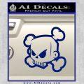 JDM Horror Skull D1 Decal Sticker Blue Vinyl 120x120