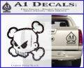 JDM Horror Skull D1 Decal Sticker Carbon FIber Black Vinyl 120x97