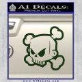 JDM Horror Skull D1 Decal Sticker Dark Green Vinyl 120x120