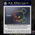 JDM Horror Skull D1 Decal Sticker Glitter Sparkle 120x120