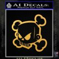 JDM Horror Skull D1 Decal Sticker Gold Vinyl 120x120