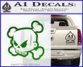 JDM Horror Skull D1 Decal Sticker Green Vinyl Logo 120x97