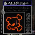 JDM Horror Skull D1 Decal Sticker Orange Emblem 120x120