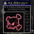 JDM Horror Skull D1 Decal Sticker Pink Emblem 120x120