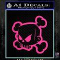 JDM Horror Skull D1 Decal Sticker Pink Hot Vinyl 120x120