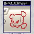 JDM Horror Skull D1 Decal Sticker Red 120x120