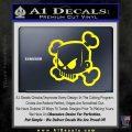 JDM Horror Skull D1 Decal Sticker Yellow Laptop 120x120