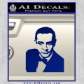 James Bond 007 Sean Connery Decal Sticker Blue Vinyl 120x120