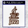 Java Script Code D2 Decal Sticker BROWN Vinyl 120x120