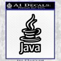 Java Script Code D2 Decal Sticker Black Vinyl 120x120