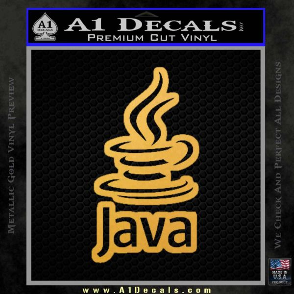Java Script Code D2 Decal Sticker Gold Vinyl