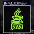 Java Script Code D2 Decal Sticker Lime Green Vinyl 120x120