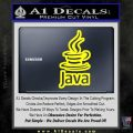 Java Script Code D2 Decal Sticker Yellow Laptop 120x120