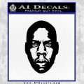 Jay Z Face 2 Decal Sticker Black Vinyl 120x120