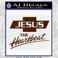 Jesus The Heartbeat Decal Sticker BROWN Vinyl 120x120